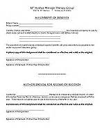 assignment of benefits form template 12th avenue therapy