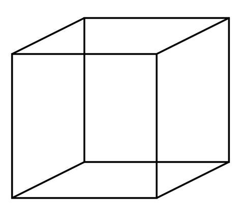 3 dimensional cube template necker cube