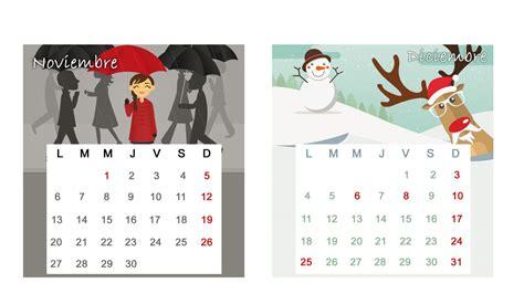 Calendario Noviembre Y Diciembre 2017 Calendario De Mesa 2017 Para Descargar Enero Y Febrero