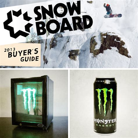 Monster Energy Gear Giveaway - win a monster energy prize pack including a year s supply of monster snowboard magazine