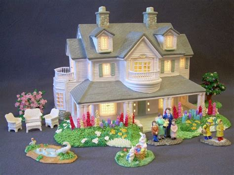 lighted houses easter lighted ceramic house and