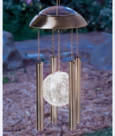 solar lighted wind chimes solar powered light wind chimes stainless steel amp glass