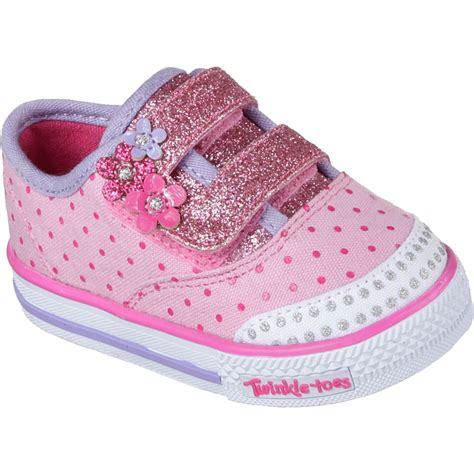 skechers baby shoes skechers infant twinkle toe baby blossom crib shoes