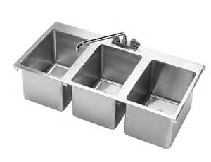 Three Compartment Kitchen Sink Hs 3819 36 Quot X 18 Quot Three Compartment Drop In Sink Drop In Sinks Drop In Units Sinks