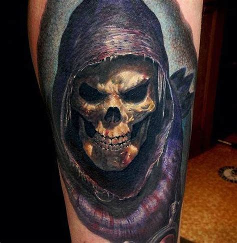 3d tattoo pics 47 best 3d skull tattoos collection
