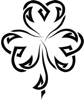tribal clover tattoo tribal shamrock tattoos and ideas