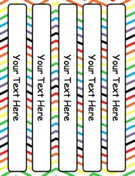 Rainbow Editable Binder Covers Dividers And Spine Templates Tpt Free Binder Cover And Spine Templates