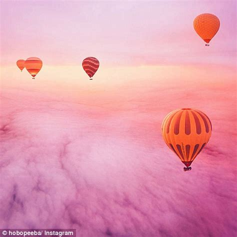 fantasy like images capture hot air balloons floating