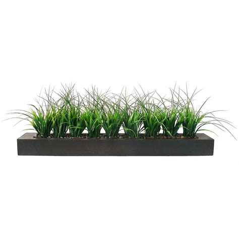 Indoor Grass Planters by 13hx9wx36l Inch Artificial Grass In Wood Planter Vha100056