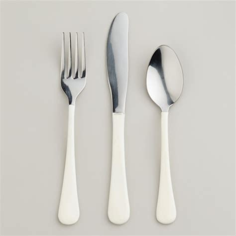 modern silverware white enamel flatware modern flatware and silverware