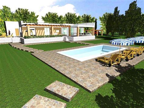 Progetto Villa Con Piscina progetto con render e costruzione di villa con piscina in