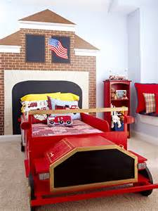 fire truck bedroom ideas kids fire truck themed headboard