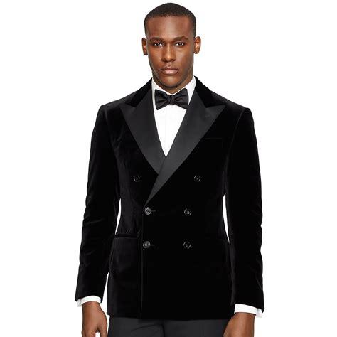 Cc034 Size M Black Blazer Formal Luaran Outerwear Fashion Wanita lyst ralph black label anthony velvet dinner jacket in black for