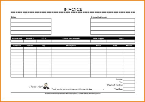 ms word invoice template free download free invoice template