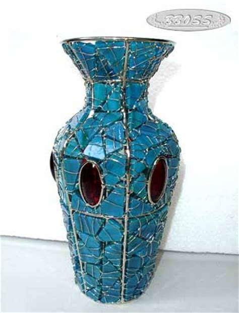 Crafts With Glass Vases by Stained Glass Flower Vase Decoration Gifts Crafts Id