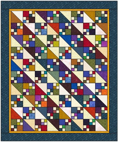 Easy Four Patch Quilt Pattern by Easy Doulbe Four Patch Quilt Second Light Diagonal