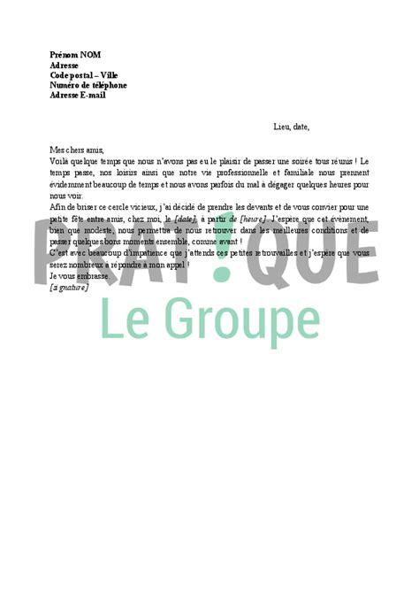 Modèle De Lettre D Invitation D Une Entreprise Invitation 224 Une F 234 Te Entre Amis Pratique Fr