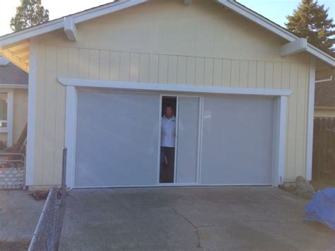 garage with privacy screen rw haas retractable