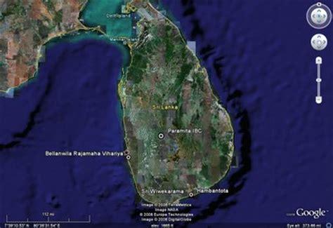 sri lanka satellite map travel srilanka the of asia