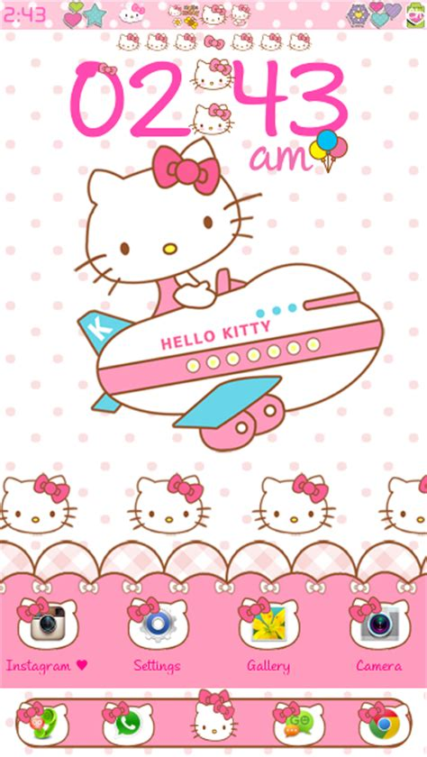 hello kitty car ride go launcher theme android themes hello kitty travel go launcher theme android themes