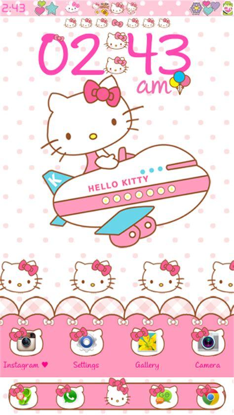 themes hello kitty ios 8 hello kitty travel go launcher theme android themes
