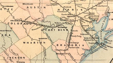 texas bayou map buffalo bayou brazos colorado railroad company tex map showing route in 1871