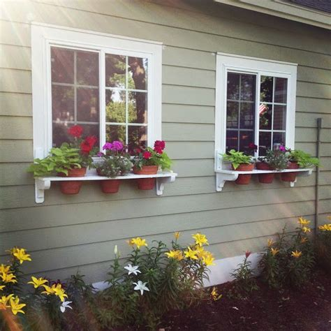diy window flower boxes diy flower pot window boxes for the home