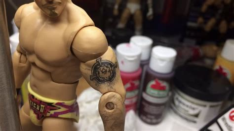 chris jericho tattoos painting on chris jericho figure