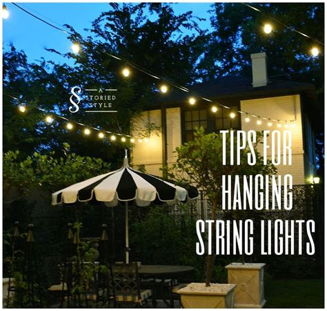 tips for hanging outdoor string lights use string