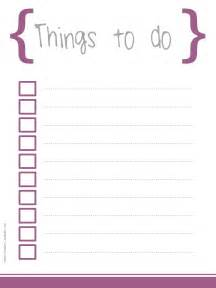 Things To Do Template Pdf by 5 Printable To Do List Templates Printable To Do Lists