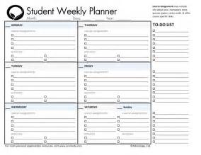 Printable School Template by 5 New School Planner Templates Templates And Sles
