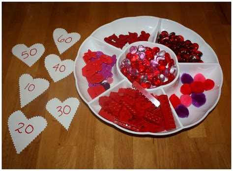 valentines early learning math ideas for