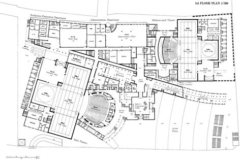 National Theatre Floor Plan by 166 New National Theatre Of Japan Japan Nations