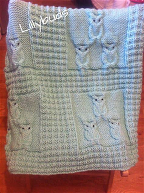 owl blanket knitting pattern ravelry oliver owl blanket pattern by lillybuds baby knits
