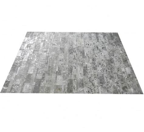 Rectangular Cowhide Rug Patchwork Rectangular Cowhide Rug Metallic Carpets By Ebru
