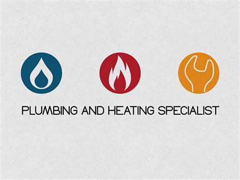 business card for plumbing and heating specialist on behance