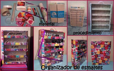imagenes de organizadores de utiles escolares organizador de esmaltes paso a paso diy pinterest