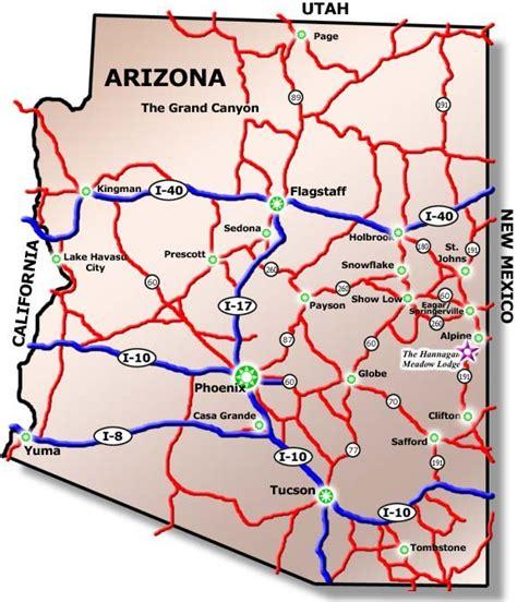printable road map arizona printable arizona road map pictures to pin on pinterest