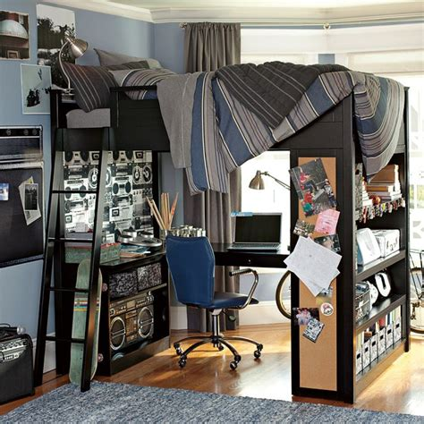 loft bed for boys bunk bed with workspace boys room interior design ideas