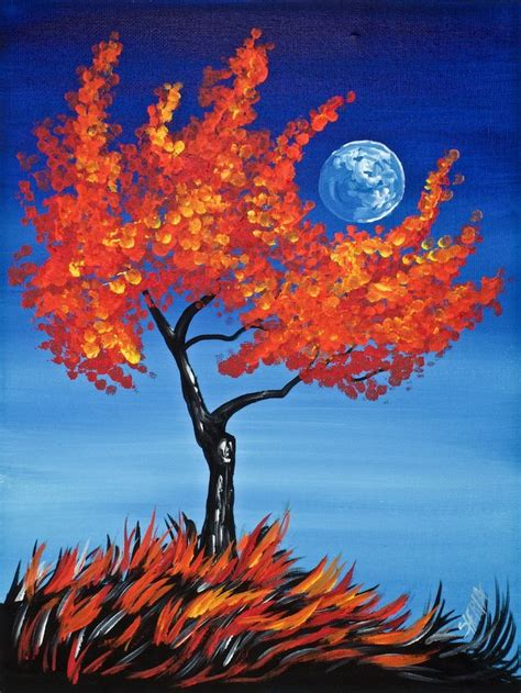 25 best ideas about fall canvas painting on fall canvas fall canvas and