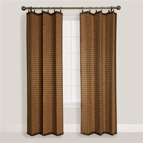 colonial curtains natural colonial bamboo ring top curtain world market