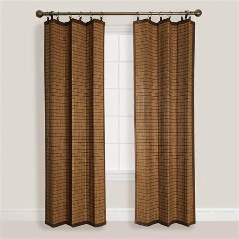 bamboo ring curtain natural colonial bamboo ring top curtain world market