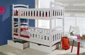 lit enfant superpos en bois 2 places avec 2 tiroirs de