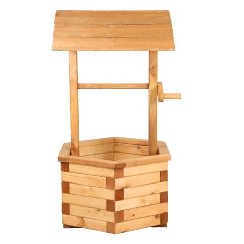 luxury wishing well wooden garden planter 90cm 34 5 quot