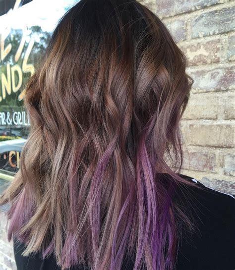 best purple shoo for highlights long brown hair with purple highlights www pixshark com