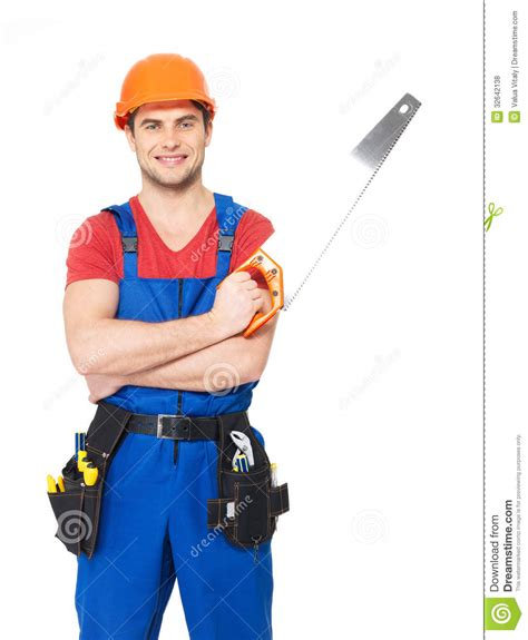 7 Handyman That I Should handyman with saw stock photo image of employee builder