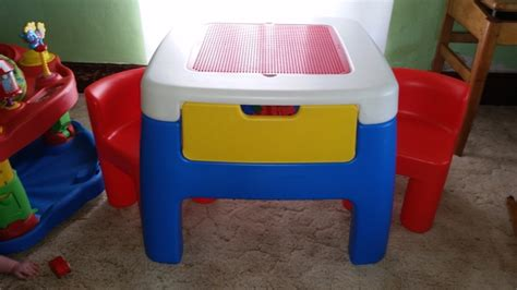 tikes lego table and chairs tikes lego table w legos nex tech classifieds