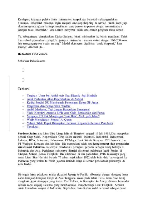 Makalah Tentang Layout Minimarket Terbaru | makalah tentang sudono salim atau liem sioe liong