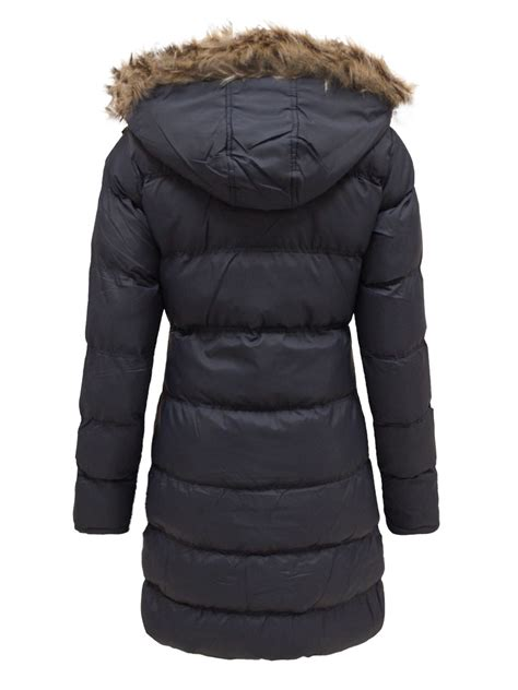 Hooded Coat fur hooded jacket womens coat padded quilted puffer