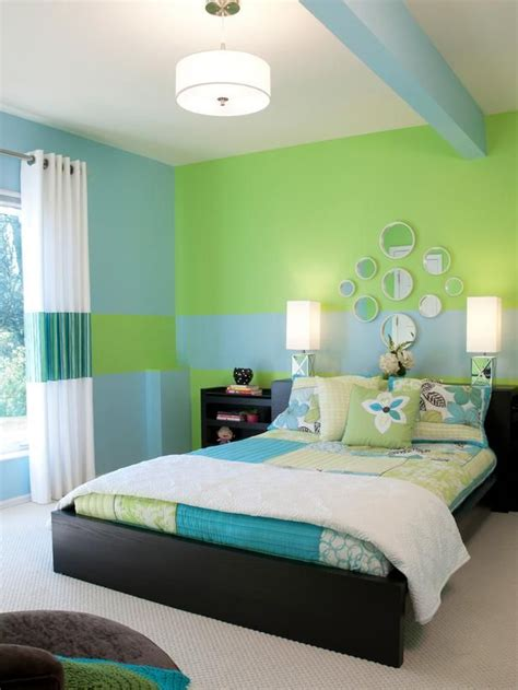 green  blue kids room creative wall murals  kids